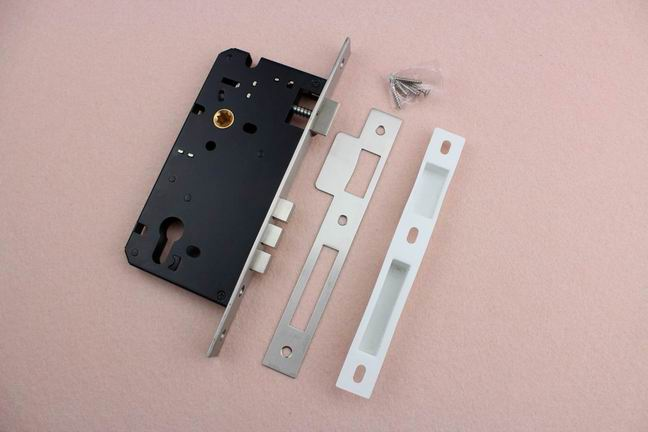 Classic Black Three Dead Bolt Guangzhou SUS201 Mortise Sliding Door Lock Body